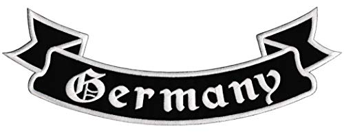 Bestellmich Germany Bottom-Rocker Biker Backpatch Rückenaufnäher XXL ca. 33,5 x 11,5 cm