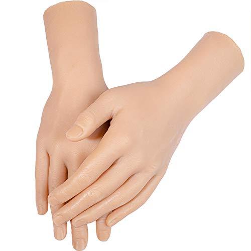 Joyfitness Hand Model Bendable Positioning Bone Body Silicone Fake Model for Manicure Nail Art Soft Practice Jewelery Ring Glove Bracelet Bangle Sketch
