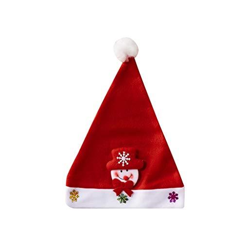 Celucke - Gorros de Navidad para Adultos con Lentejuelas, Regalo Festivo de Navidad