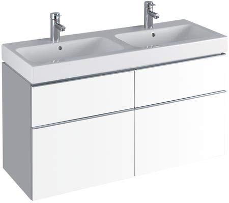 Keramag iCon Waschtischunterschrank 1190 x 620 x 477 mm, für Doppelwaschtisch Korpus/Front: Alpin matt