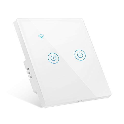 Gobesty Interruptor de Pared Wi-Fi, Interruptor Luz WiFi...