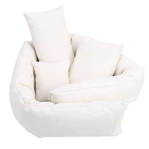 Almohada infantil Apoyos de fotografía de bebé blanco Mini sofá para niño o niña posando bolsa de frijoles