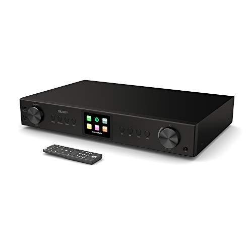 Majority Fitzwilliam 2 HiFi-Tuner, digitales DAB/DAB + / FM- und Internetradio, Spotify Connect, Bluetooth, Fernbedienung, USB & AUX; optische, koaxiale und konventionelle Anschlüsse, Farbdisplay