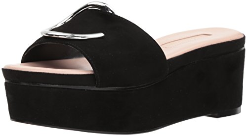 Avec Les Filles Women's Addison Wedge Sandal, Black, 5.5 Medium US