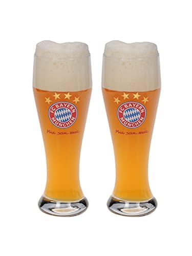 FC Bayern München Weißbierglas, Weizenglas, 2er Set