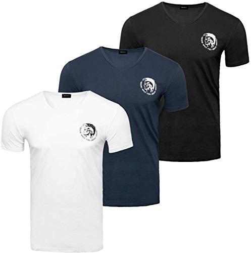 Diesel UMTEE-MICHAEL3PACK T-Shirt Camiseta, E5347-0tanl, L para Hombre