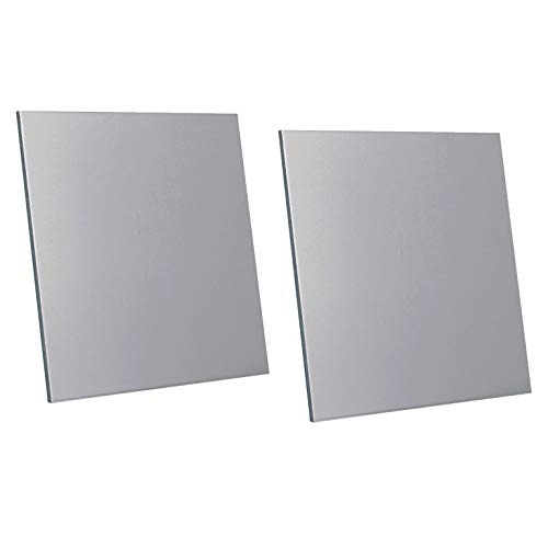 """2 Pcs 3003 H14 Aluminum Sheet, 6"""" x 6"""", 0.125""""(3mm) Thickness, Double-Sided Film Attached Aluminum Plates"""
