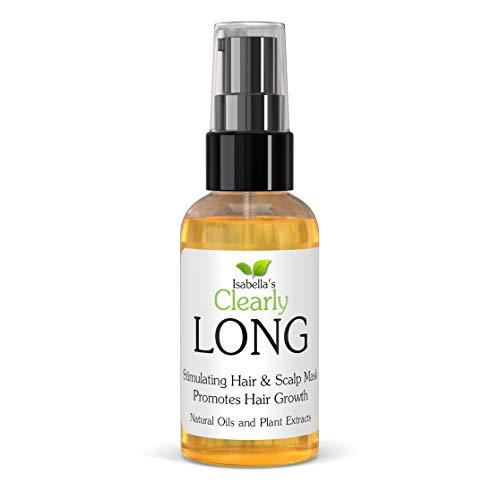 LONG - Masque capillaire naturel à l'huile de ricin, d'argan, de jojoba pour une croissance rapide. Revitalisant profond traite les pointes fourchues, les cheveux secs et abîmés.