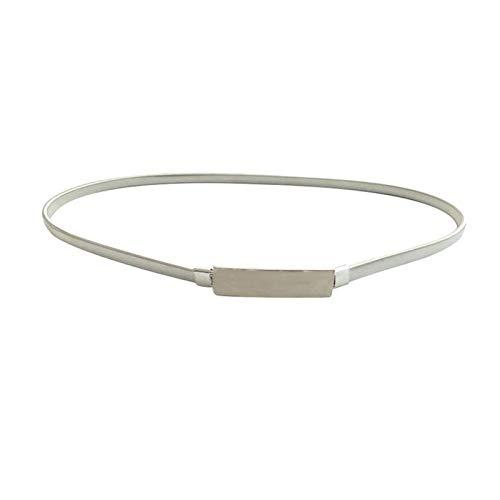 LPZW Cinturones elásticos de Las Mujeres de Oro Cadena de Plata Cinturones de Cintura de Metal Vestido de Vestido Femenino Damas Delgado Estiramiento de la Cintura