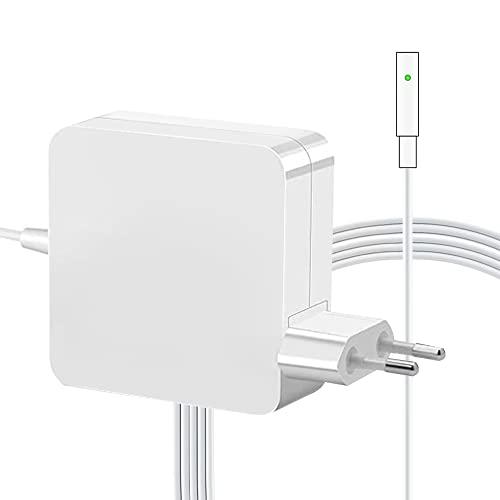 Adattatore di alimentazione con punta a L da 60 W, Compatibile con Mac Magnetico Caricatore, con Connettore a L -Tip, compatibile con Mac book Air 11' e 13 pollici - dal 2009 al 2012