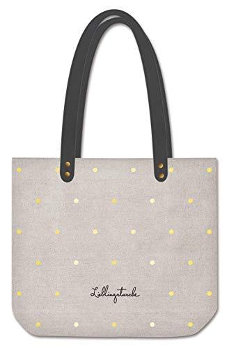 Grafik Werkstatt Shopper Leinen Damen Tasche Lieblingstasche, Mehrfarbig