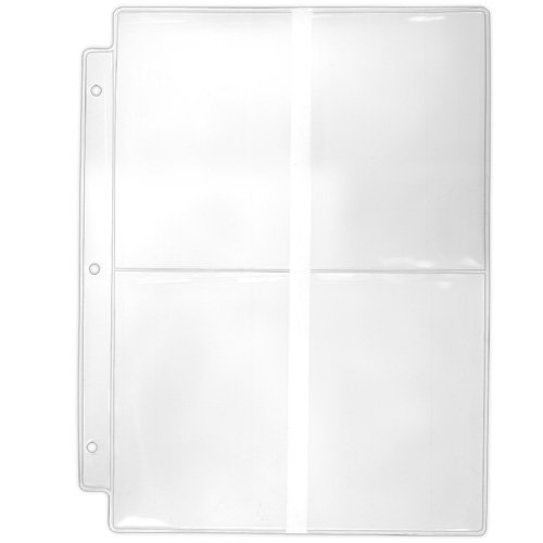 """StoreSMART - Binder Page for Samples, Swatches, 4"""" x 6"""" Photos - Clear Plastic - 25-Pack - VP201-25"""
