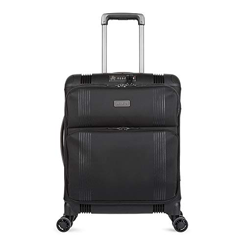 Antler Titus, Super-Strong, Durable & Lightweight Soft Shell Suitcase (Cabin, Black)