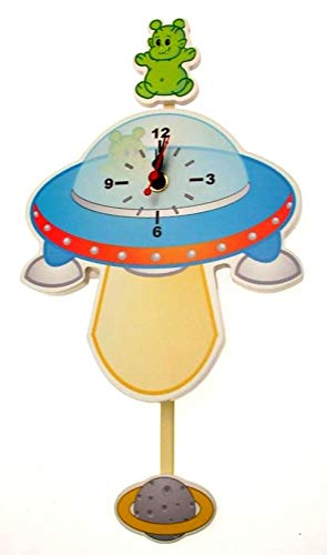Horloge pour chambre d'enfant – Design vaisseau spatial UFO ou Idéal pour un garçon