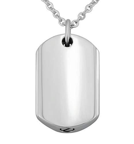 Hanessa Gravierte Edel-Stahl Kette mit Wunsch Gravur Edelstahl Anhänger in Silber mit individuellem Text, Geschenk für die Frau oder Freundin