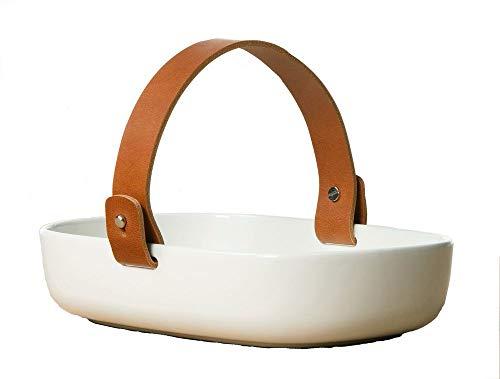 Marimekko® - Schaal/fruitschaal - Koppa - Wit/Wit - aardewerk - 13,5 x 20 x 4,5 cm