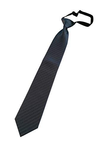 PB Pietro Baldini Krawatte mit Gummiband- Krawatte mit Gummizug - Sicherheits Krawatte Gebunden - elegante Struktur -Die Krawatte ohne binden Gr 51 * 7,5 (Anthrazit gestreift)