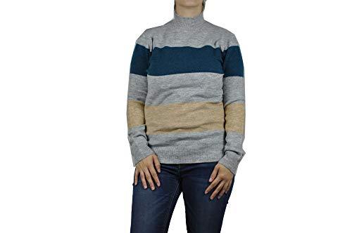 SOYACONCEPT - Damen Pullover, SC-Nessie 10 (32776), Größe:L, Farbe:Türkis/Grau (6744)