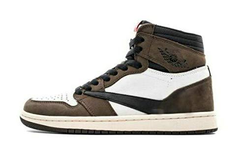 Air Retro 1 'Marrón' Zapatillas Deportivos Sneakers Zapatos de Deporte para Hombre Mujer (Brown, Numeric_32)