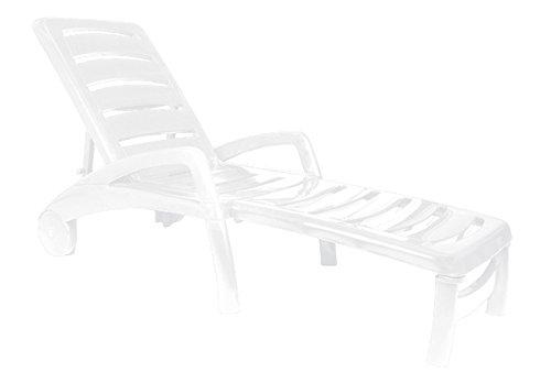Resol - Tumbona Resina Plegable Blanca Ibiza 65x190x49C - OLOT - 01471
