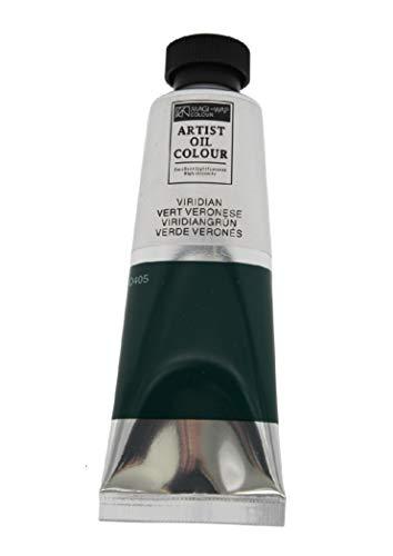 Magi® Ölfarbe, 50 ml Tube feine Künstlerqualität, hochwertige Farben zum Malen (21 viridiangrün)
