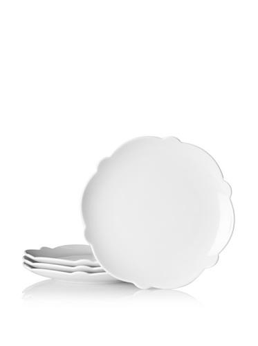 Alessi MW01/5 rond porcelaine blanc 4pezzo (les) plat plan