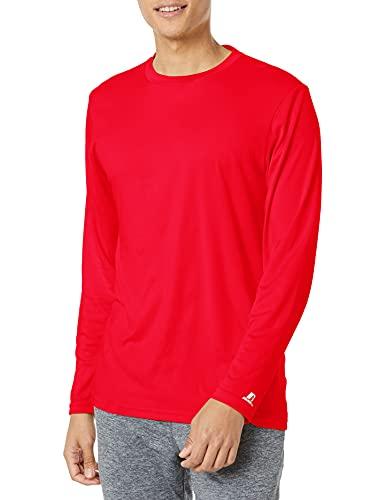 Russell Athletic Men's Standard Long Sleeve Performance Tee, True Red, Medium