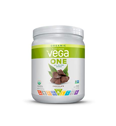 Vega One Organic Meal Replacement Plant Based Protein Powder, Chocolate - Vegan, Vegetarian, Gluten Free, Dairy Free with Vitamins, Minerals, Antioxidants and Probiotics (9 Servings, 13.2oz)