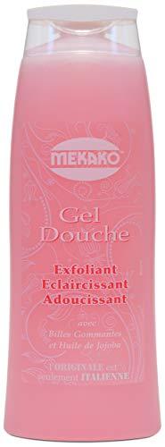 Mekako, Gel Douche Exfoliant Eclaircissant Adoucissant, Orchidée, 420 ml