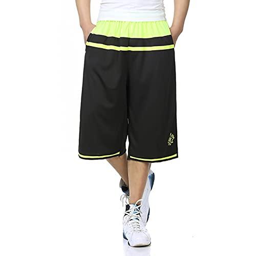 YUEMO Pantalones cortos de baloncesto para hombre con bolsillos para correr, deporte y fitness, casuales, elásticos, pantalones cortos anchos para hombre deportivos, 3, XL