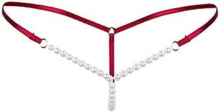 Other Transparent Women Lingerie Underwear Panties Pearl Open-Crotch Thong Women Underwear