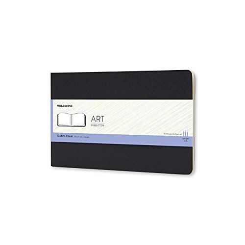 Moleskine - Art Collection, Cuaderno para Dibujo y Bocetos, Tapa Dura, Papel Apto para Bolígrafos, Lápices y Carboncillo, Color Negro, Tamaño Grande 13 x 21 cm, 88 Páginas