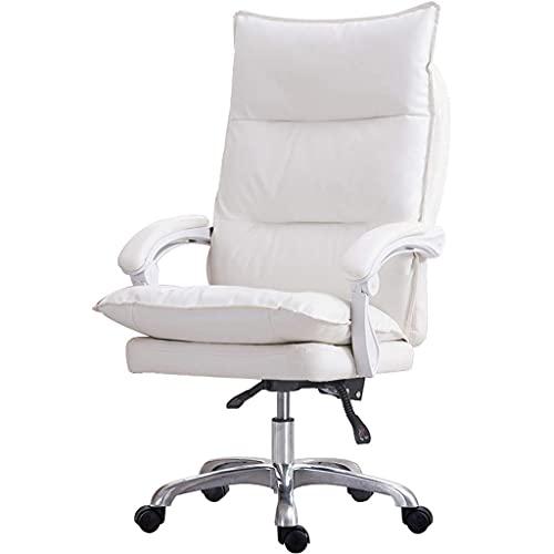 TBUDAR Executive Office Chair - High Back Rocking PU-Leder Bürostuhl mit Eisen Armlehnen und Fußstütze - Rüttliche Computertischstuhl mit ergonomischem Segment