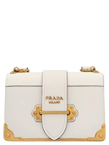 Luxury Fashion | Prada Dames 1BD045VXCH2BB0F0009 Wit Leer Schoudertassen | Lente-zomer 20