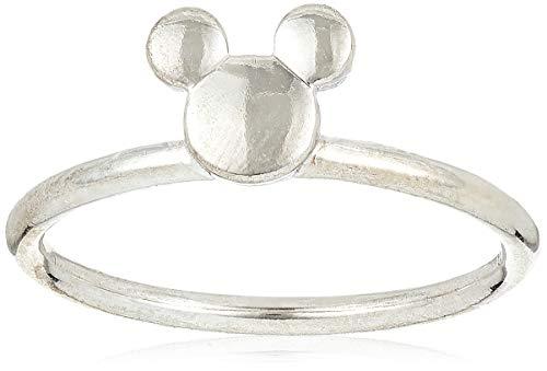 PANDORA Anillo de plata de ley 925 con silueta de Mickey de Disney, tamaño: EUR-48, US-4.5 - 197508-48