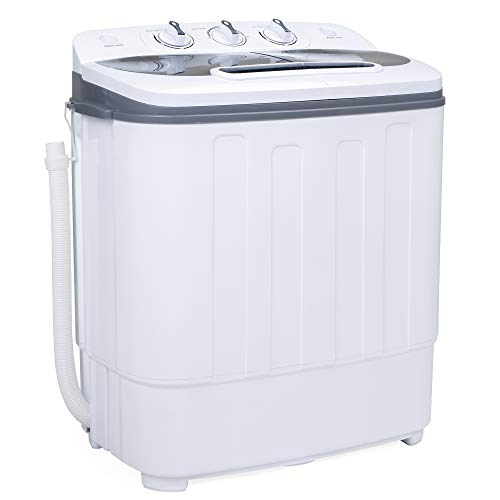 Best Choice Products Portable Compact Mini Twin Tub Laundry Washing Machine and Spin Cycle Dryer...