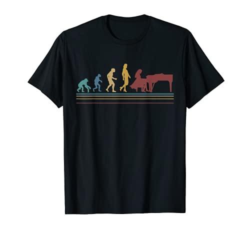 Regalo Mujer Pianist Love Piano Evolution Camiseta