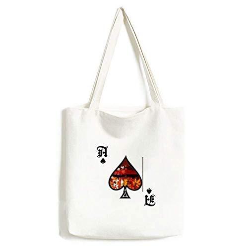 Japanischer Stil Blätter Pavillon Handtasche Craft Poker Spaten waschbare Tasche