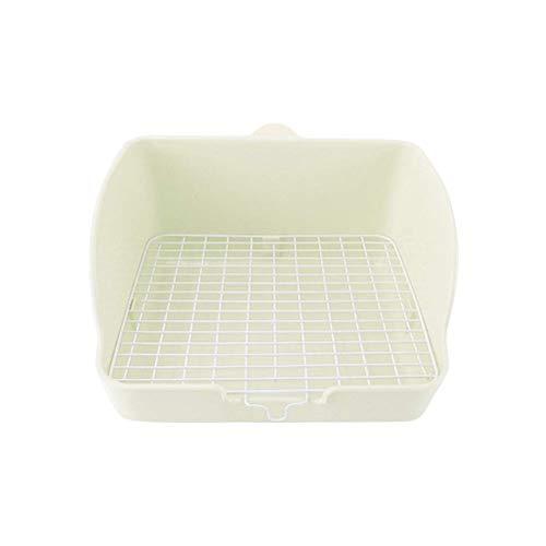 Qazxsw Pet Toilet Pet Potty Trainer Welpentraining Tray Pad Bodenschutzschalen für Hundekaninchen und Meerschweinchen Weiß