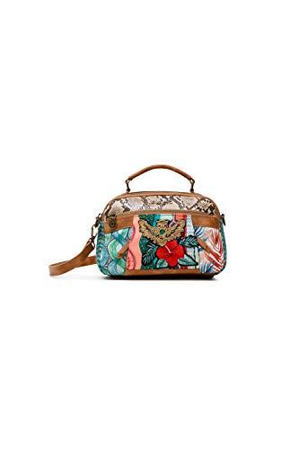 Desigual Fabric Hand Bag, Mano Mujer, Rojo, U