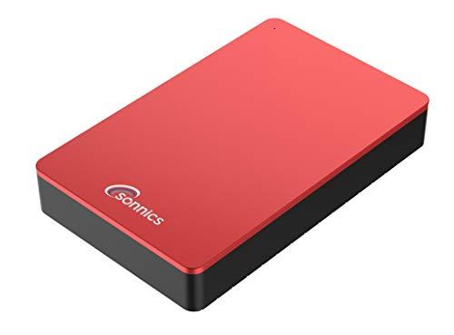Sonnics Hard disk esterno da scrivania, USB 3.0, per PC Windows, Mac, Smart TV, Xbox One e PS4 Rosso 4 TB