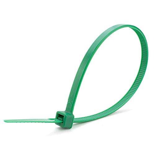 Trifycore 100 PCS Green kabelbindare 100 mm x 2,5 mm Solid Foundation Starke Nylon buntband för Gocableties , tillbehör
