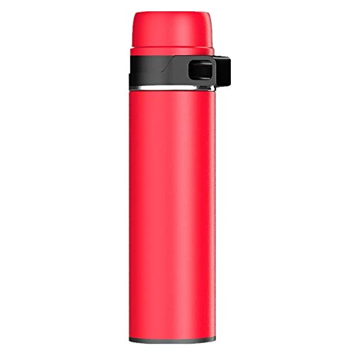 Mokfles 600ml grote capaciteit Vacuum Vacuum Kolf, Sport Portable Water Cup, Vacuum Travel vacuuemfles BPA-vrij Lekvrije Coffee Cup (3 kleuren optioneel) Volwassenen (Color : Red, Size : 255x70mm)