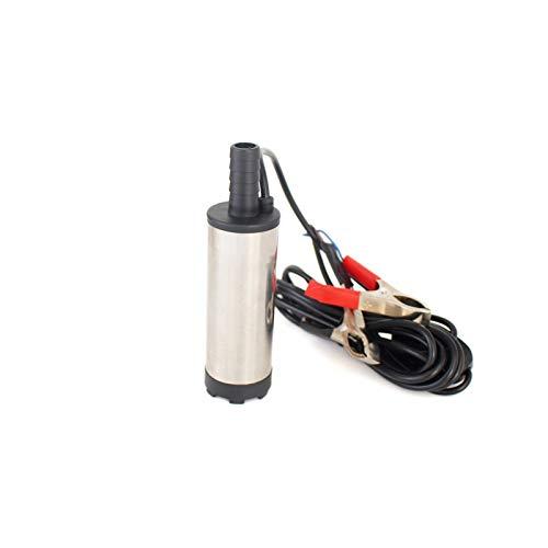 GBHD Wasserpumpe 12L / min 30L / min 12V 24V DC Electric Submersible Ölpumpe for Auto Diesel Kerosene Kraftstoffumfüllung-Wasserstrahlpumpe 12 24 V Volt Solarwasserpumpe. (Color : 51mm 24V Clip)