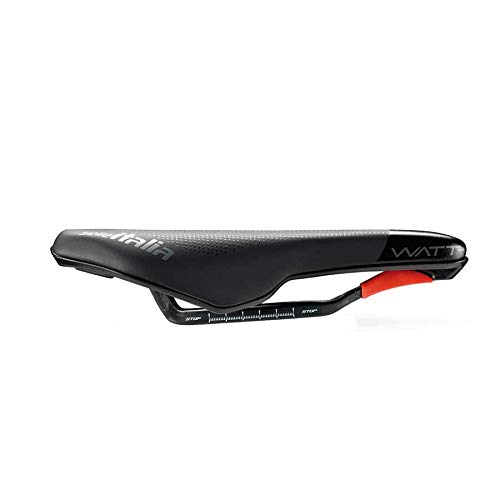 Selle Italia - Sillín Watt Kit Carbonio Superflow Carbon/Keramic Ø7x9, Triathlon, Performance, Fibra-tek, Light, Comfort