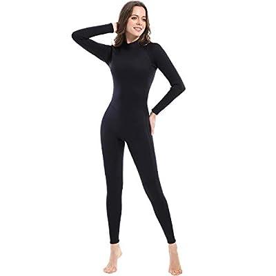 Dark Lightning 3mm Wetsuit Women, Women's Wetsuit Long Sleeve Full Suit Premium Neoprene Womens Suit Scuba Diving/Surf/Canoe, Jumpersuit (Size10/Large)