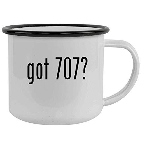 got 707? - Sturdy 12oz Stainless Steel Camping Mug, Black