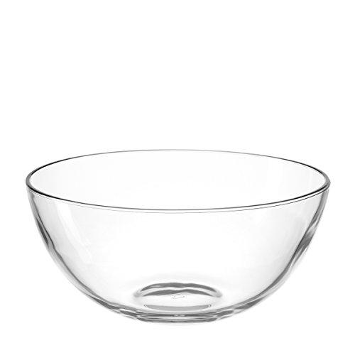 Leonardo Cucina Glas-Schale, runde Schale aus Glas, spülmaschinengeeignete Salat-Schüssel, Ø 255 mm, 066328