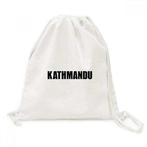 DIYthinker Kathmandu Nepal Stadt Name Canvas-Rucksack-Reisen Shopping Bags