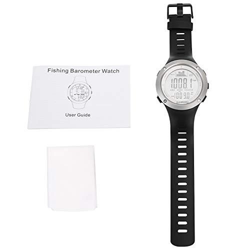 Da Dini Smartwatch Fishing Barometer Guarda Il Termometro per Altimetro Impermeabile Orologi Neri su Bianco
